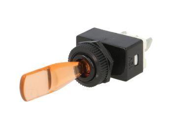 KYT12ORA Vipukatkaisin - vipukytkin oranssilla valolla 6A 12V DC