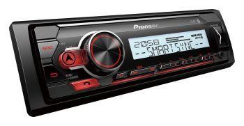 Pioneer MVH-MS410BT pesätön marine DSP aikaviive Bluetooth mediasoitin