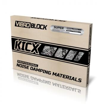 KICX Super Butyylikumi / alumiin vaimennusmatto 2.85mm x 3.2m2